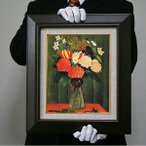 ルソー: 花瓶の花(F8号・455×380)