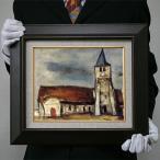 佐伯祐三:モランの寺(サン・ジェルマン・シュル・モラン)(原寸大・534×700)