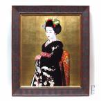 絵画館 人気作家・小松崎邦雄 油絵12号「左褄」舞妓・逸品