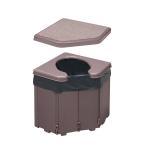 ポータブルコーナートイレ 非常用簡易トイレ 凝固剤・汚物袋入り