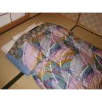 ショッピング手作り 日本製 手作りかいまき掛布団 綿混わた入りロング シボリ柄(#3108柄) 送料無料 和風寝具 どてら 夜着