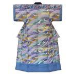 日本製 手作りかいまき掛布団 綿混わた入り定番品 お買得品 (#3227柄青色) 送料無料 和風寝具 どてら 夜着