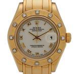 残価据置型クレジット月々19000円コース対象 ロレックス ROLEX デイトジャスト パールマスター 腕時計 自動巻き 750YG レディース 【中古】 PB5