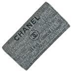 シャネル CHANEL ドーヴィルライン 二つ折り 長財布 長財布 キャンバス レザー レディース 【中古】 PB18