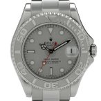 ロレックス ROLEX 腕時計 ヨットマスター ロレジウム 168622 腕時計 SS Pt 自動巻き  シルバー ボーイズ 【中古】