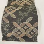 バイセルオンライン Yahoo!店で買える「袋帯 美品 名品 落款あり 坂東三津五郎 花布季 やまと 竹 有職文様 金糸 箔 茶緑色 六通 正絹 【中古】」の画像です。価格は13,800円になります。