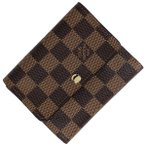 ルイ・ヴィトン Louis Vuitton ポルト フォイユ アナイス 札入れ 小銭入れ 三つ折り財布 ダミエ ブラウン N63242 レディース 【中古】