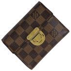 ルイ・ヴィトン Louis Vuitton ポルト フォイユ コアラ 小銭入れ 札入れ 三つ折り財布 ダミエ ブラウン N60005 レディース 中古