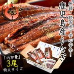 うなぎ 蒲焼き 国産 無頭 鹿児島県産 特大サイズ 約200g×3尾 ウナギ 鰻