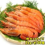 赤エビ 刺身 焼き 2kg 約50尾 アルゼンチン 赤えび 海老 天然 蝦 有頭 L2サイズ お取り寄せ 寿司 味噌 海鮮 贈答 送料別 クール便