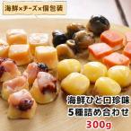 ひと口 海鮮 珍味 5種 詰め合わせ 300g お徳用 お得 おやつ 酒の肴 おつまみ セット チーズ 個包装  一口サイズ お取り寄せグルメ メール便