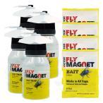 【4セット買えば送料無料】フライマグネット・誘引剤1袋付き×4セット ハエ・クロバエ・キンバエ・ギンバエ誘引捕獲器