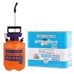シロアリ対策 白アリミケブロック希釈済み 2L 無着色クリアータイプ+4L専用噴霧器セット 防蟻 防腐剤