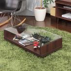 ガラステーブル ローテーブル センターテーブル 収納 コレクション おしゃれ 北欧 北欧風 ミッドセンチュリー カフェ インテリア 家具