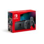 【送料無料】【中古】Nintendo Switch 本体 (ニンテンドースイッチ) Joy-Con(L)/(R) グレー(バッテリー持続時間が長くなったモデル)(箱説付き)