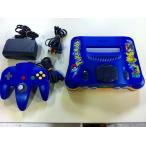 N64 任天堂64 NINTENDO64 本体 ポケモンブルー  (コントローラー、ケーブル付き)