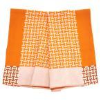 エルメス ブランケット H102556M02 HERMES ソルド アヴァロン H ウール/カシミア ORANGE オレンジ