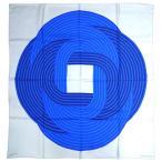 ショッピングスカーフ エルメス スカーフ HERMES ソルド カレ 90CMS ツイル シルク100% MAILLONS DE JOEL STEIN パールグレー/ライトブルー/インクブルー 29265