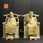 【木彫り仏像】☆桧木達磨大師大権大師坐5.0寸総高39cm