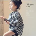 シャツ ギンガムチェック 韓国子供服
