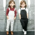 ショッピングオーバーオール オーバーオール  白黒  キッズ  女子  女の子  女児  ガール  韓国子供服 サロペット