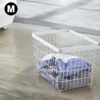 「ランドリーワイヤーバスケット タワー M」 収納 ランドリー 黒 白 おしゃれ ナチュラル 洗濯かご 洗濯カゴ 大きい