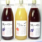 りんごジュース(ストレートジュース)  ブルーベリードリンク(果汁80%)   3本 詰合せ お歳暮 ギフト