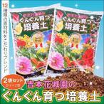用土/2袋セット合計40リットル送料無料/吉本花城園のプロの培養土 花と野菜がぐんぐん育つ土/同梱不可