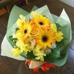 イエロー 花瓶のいらない花束 フラワーギフト 生花 プレゼント ブーケ ひな祭り 母の日 卒業 画像 送料無料