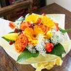 成人祝いプレゼント チューリップの花瓶のいらない花束 ブーケ<オレンジ&イエロー