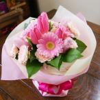 バレンタイン チューリップ 花瓶のいらない花束 ブーケ ピンク