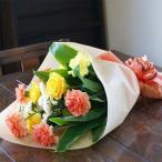 薔薇 カーネーション 黄 オレンジ系 花束 生花 プレゼントギフト 花ギフト ひな祭り 母の日 卒業 画像 送料無料