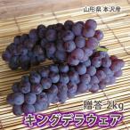 葡萄 ぶどう ブドウ 高級 キングデラ 秀品 2kg 5〜7房入り 山形市本沢産