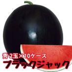 スイカ 種なしすいか ブラックジャック 秀 6〜7kg 2玉入 10ケース 尾花沢スイカ 尾花沢 甘い