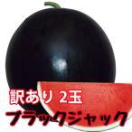 スイカ 種なしすいか ブラックジャック 訳あり ご家庭用 6〜7kg 2玉入 1ケース 尾花沢スイカ 尾花沢 甘い