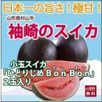 スイカ 小玉スイカ ひとりじめ ボンボン 秀2L 2玉 尾花沢スイカ 送料無料 甘い