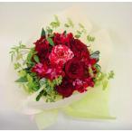 情熱的なおじいちゃんへ真っ赤な花瓶のいらない花束 ブーケ 生花 プレゼント ギフト誕生日 結婚記念日 結婚祝い 画像 送料無料