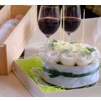 母の日 フラワーケーキ 純白のホールケーキ  シフォン 生花 プレゼント誕生日 結婚記念日 結婚祝い