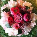 母の日 フラワーケーキ ピンクで作ったピーチケーキ 5号  生花 プレゼント誕生日 結婚記念日 結婚祝い
