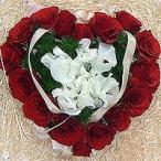 母の日 フラワーケーキ 情熱的な赤であなたの想いを形にした真赤なハートのケーキ 生花 プレゼント誕生日 結婚記念日 結婚祝い