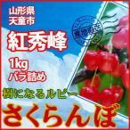 さくらんぼ 紅秀峰 1kg バラ詰め 加藤農園 有機減農薬栽培 農家直送 山形県天童市