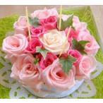 母の日 フラワーケーキ 可愛いピンクのフラワーケーキ  ティラミス 7号 生花 プレゼント誕生日 結婚記念日 結婚祝い