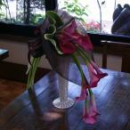 カラー 花 ピンク ブーケ 花束 生花 プレゼント 誕生日 結婚記念日 卒業 画像 送料無料