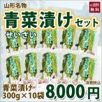 【送料無料】山形もとさわ名物 青菜漬け10袋セット