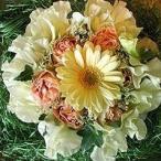 母の日 フラワーケーキ 淡い黄色と白で作ったクリームケーキ 5号 生花 プレゼント誕生日 結婚記念日 結婚祝い