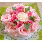 母の日 フラワーケーキ 可愛いピンクのホールケーキ  ティラミス 6号  生花 プレゼント誕生日 結婚記念日 結婚祝い