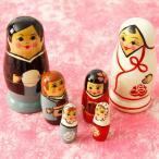 マトリョーシカ Wedding Matryoshka 和装花婿 花嫁 オブジェ プレゼント ロシア 木製 かわいい