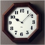 RIKI CLOCK リキクロック 八角の時計 WR11-01 壁掛け時計 掛時計 ウォールクロック おしゃれ