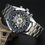 ショッピング自動巻き 【5個限定】メンズ 腕時計 時計  レディース ウオッチ アナログ  【重厚なビッグフェイス仕様】3Dフルスケルトン自動巻き腕時計【保証書付】BCG89BK