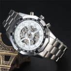 ショッピング自動巻き 自動巻き  【5個限定】  メンズ  腕時計 時計 腕時計 レディース ウオッチ アナログ 3Dフルスケルトン 保証書付き BCG89WH